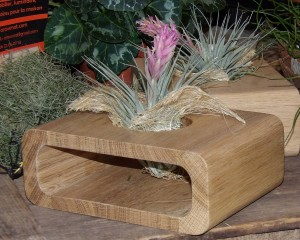 Accessoire déco pour plante en chêne massif