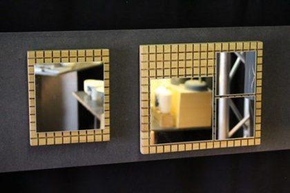 Miroirs graphiques bois massif