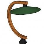 lampe pied chêne courbé arawmat