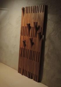 Portemanteau en chêne pièce unique