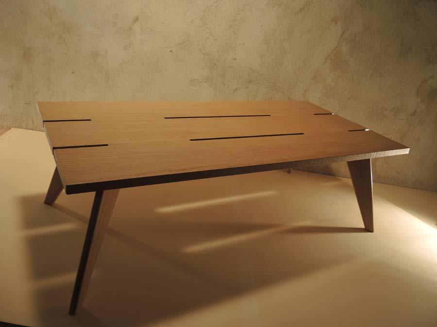Table basse Arawmat chêne clair
