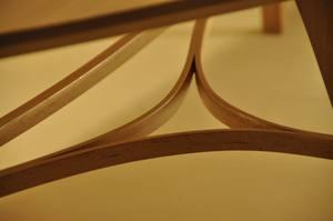 Traverses de table basse tripode design en hêtre massif