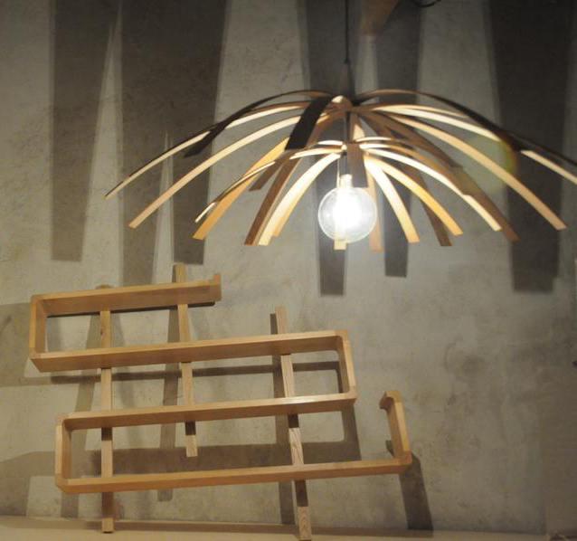 Luminaires Arawmat en bois massif