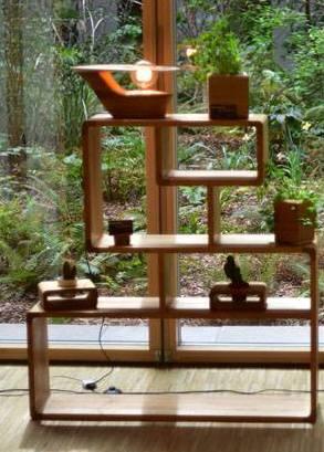 Etagère design chêne fabriquée en Auvergne
