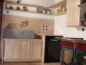 Aménagement d'une cuisine en chêne massif