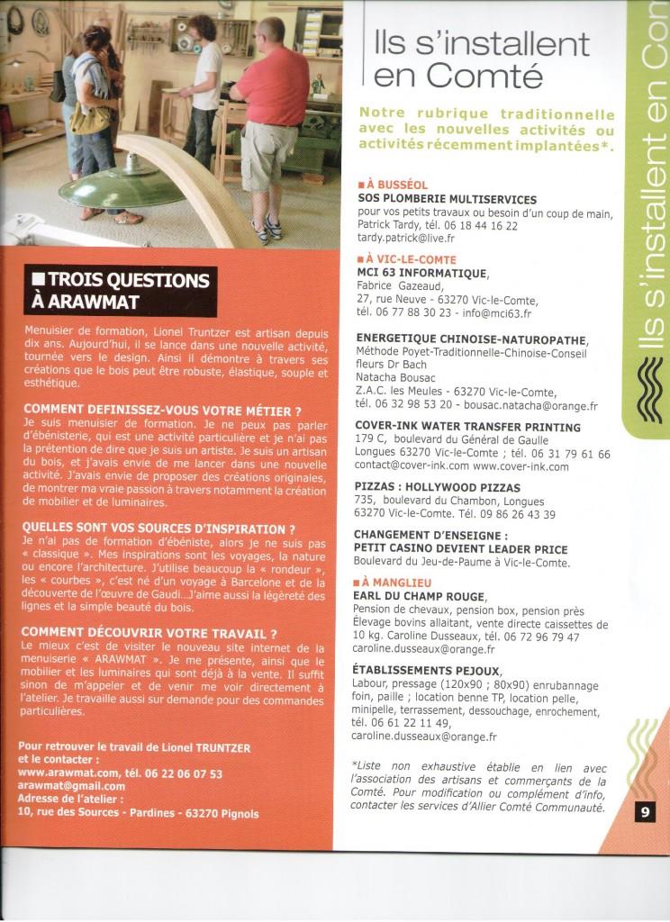 Atelier création mobilier bois Auvergne