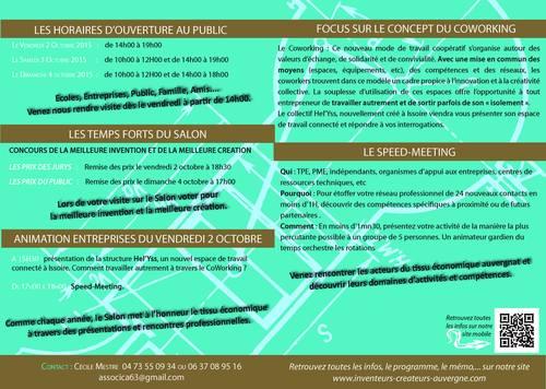 Salon des Inventeurs et Créateurs d'Auvergne 2015