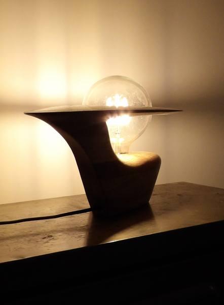 création luminaire contemporain bois sculpté made in auvergne