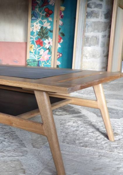 Table basse en chêne made in France