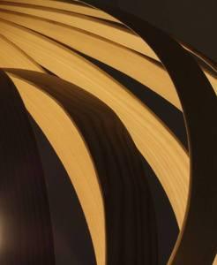 Fabrication luminaires bois contemporains