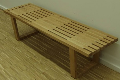 banc en chêne contemporain, made in Auvergne