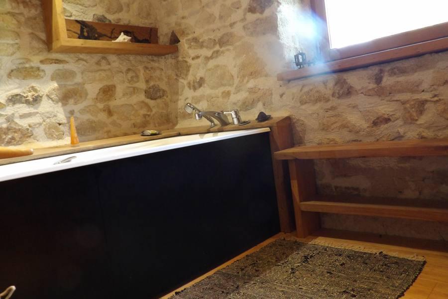 rénovation une salle de bain bois