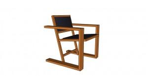 fauteuil avec accoudoirs bois massif