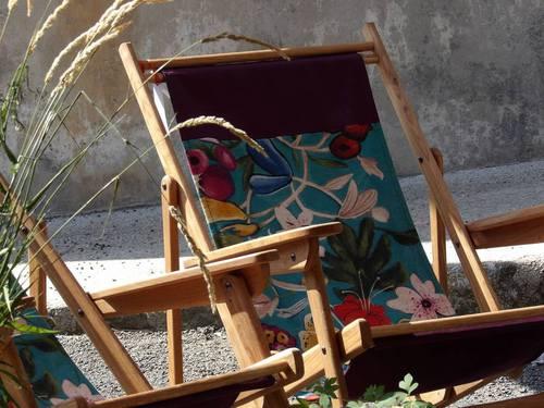 Transat chêne Massif et textile lin fabriqué en Auvergne